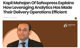 MR KAPIL MAHAJAN HIGHLIGHTS THE BENEFITS ANALYTICS IN DELIVERY OPERATIONS