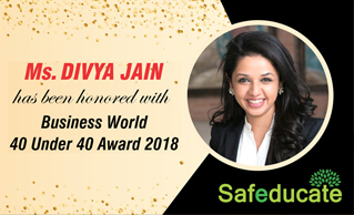 BUSINESS WORLD CONFERRED '40 UNDER 40 AWARD' TO MS DIVYA JAIN