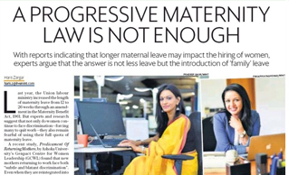 Mint interview featured thoughts of Ms Divya Jain, CEO, Safeductae over maternity benefit act 1961