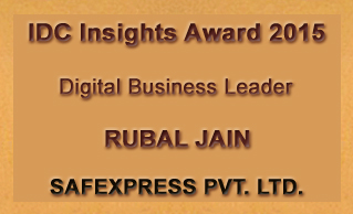 Rubal Jain wins the 'Digital Business Leader' honor at IDC Insights Awards 2015