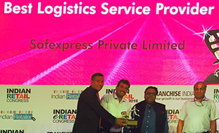 Retail India Recognizes Safexpress as Best Logistics Provider