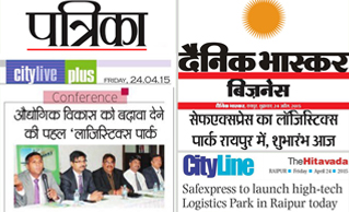 Media Coverage of Launch of Logistics Park at Raipur