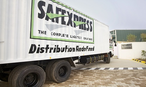 Safexpress transport vehicle