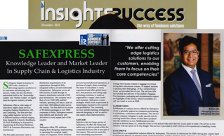 EXCLUSIVE INTERVIEW OF MR. RUBAL JAIN IN INSIGHT SUCCESS MAGAZINE