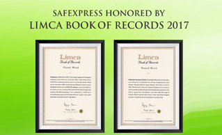 LIMCA BOOK OF RECORDS 2017 RECOGNIZES SAFEXPRESS AS 'INDIA'S LARGEST SUPPLY CHAIN & LOGISTICS COMPANY'