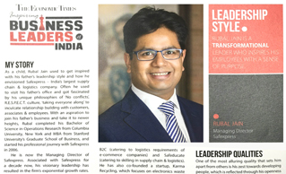 The Economic Times covered Rubal Jain, MD, Safexpress as one of the Inspiring Business Leaders of 2016