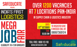 Safeducate has organised India's largest and first-ever of its kind Logistics Job Fair