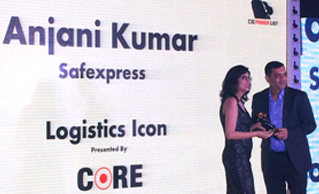 ANJANI KUMAR, CIO, SAFEXPRESS FELICITATED AS 'LOGISTICS ICON' AND 'ANALYTICS ICON'