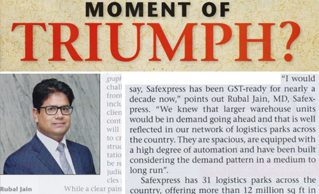One to one interview of Mr. Rubal Jain, MD, Safexpress with Business India