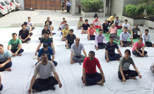 SAFEXPRESS GROUP EMPLOYEES PRACTICE YOGA