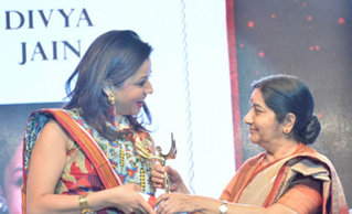 MS DIVYA JAIN, FOUNDER & CEO, SAFEDUCATED HONORED WITH THE 'YOUNG WOMAN ACHIEVER' AWARD