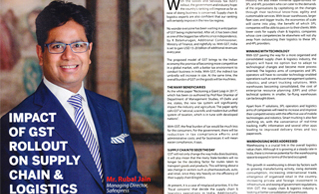 Mr. Rubal Jain's article on 'GST's impact on Supply Chain & Logistics' in Business World magazine